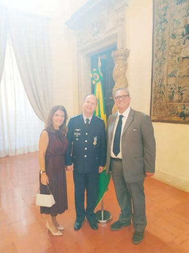sinergitaly riccardo di matteo ambasciata brasile con il collonnello capo di stato maggiore reginaldo pontirolli