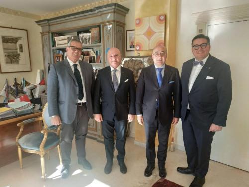 sinergitaly riccardo di matteo incontro con l'ambasciatore italiano a montecarlo